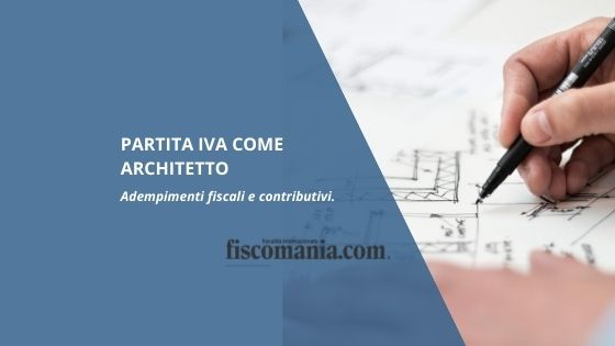 Partita Iva come architetto