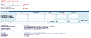 codice tributo 4001 debito