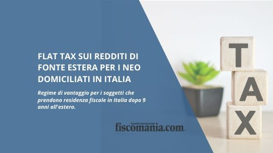 Flat Tax neo domiciliati