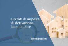 credito di imposta di derivazione immobiliare
