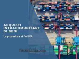 Acquisti intracomunitari di beni