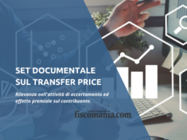 Set documentale sul transfer pricing