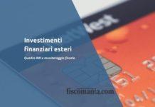 Investimenti finanziari esteri
