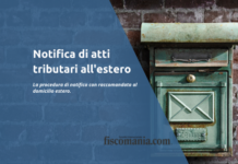 Notifica di atti tributari all'estero