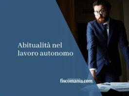 Abitualità nel lavoro autonomo