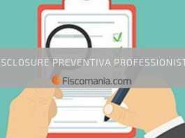 Disclosure Preventiva Professionisti