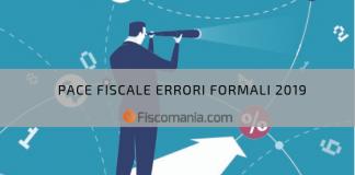 Pace Fiscale Errori Formali