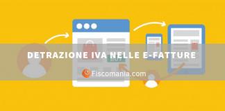 Detrazione IVA e-fatture