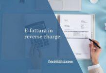 E-fattura in reverse charge