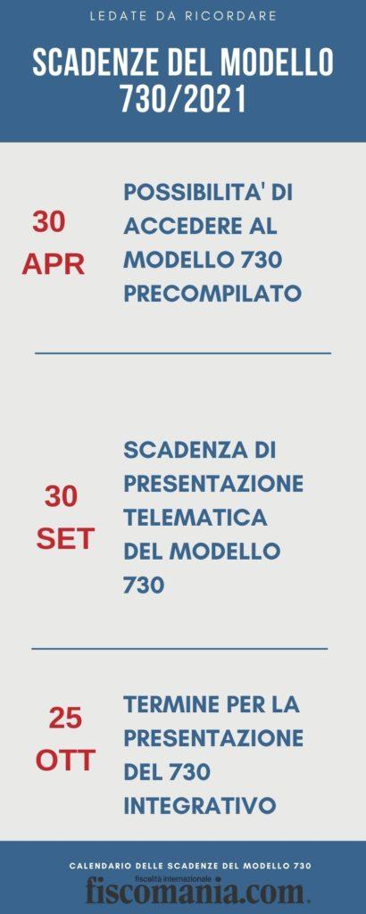 Calendario scadenza 730