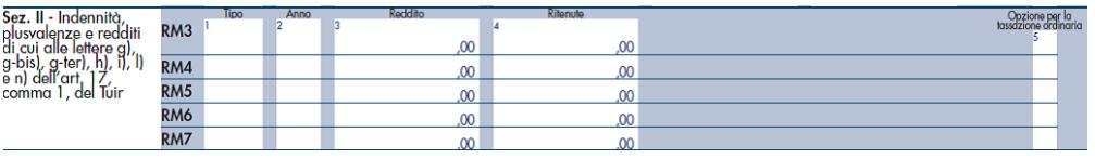 Quadro RM Plusvalenza da Cessione Azienda Imprenditore Individuale