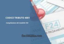 Codice tributo 4001
