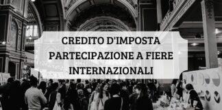 Credito imposta fiere internazionali