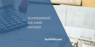 Accertamenti sul conto corrente