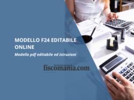Modello F24 editabile online con istruzioni