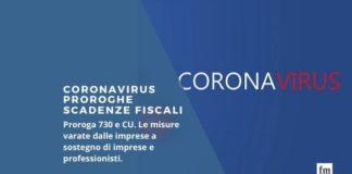 Coronavirus proroghe scadenze fiscali