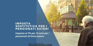 Imposta sostitutiva pensionati esteri