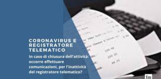 Coronavirus e registratore telematico