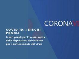Covid-19 rischi penali