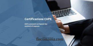 certificazione degli utili e proventi