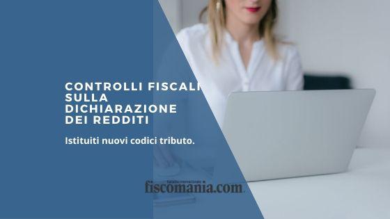 controlli fiscali sulla dichiarazione