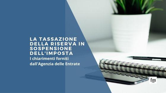 La tassazione della riserva