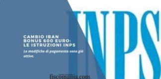 Cambio IBAN bonus 600 euro