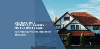 Detrazione interessi passivi mutui