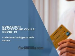 Donazioni protezione civile Covid-19