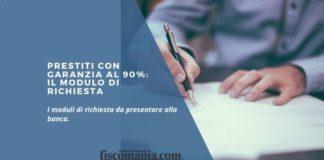 Prestiti con garanzia al 90%
