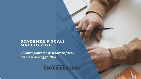 Scadenze fiscali maggio