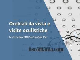 Detrazione occhiali da vista