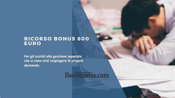Ricorso Bonus 600 euro