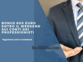 Bonus 600 euro entro