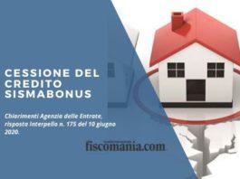 Cessione del credito Sismabonus