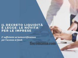 Il Decreto liquidità è legge