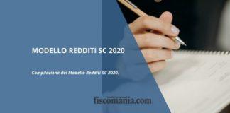 Modello Redditi SC 2020