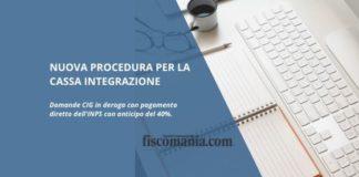 Nuova procedura per la Cassa Integrazione