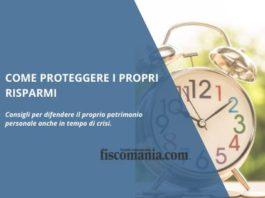 Proteggere i propri risparmi