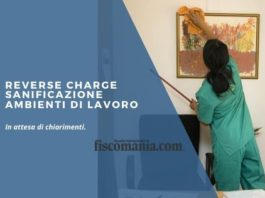 Reverse charge sanificazione