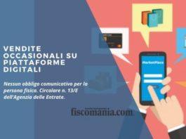 Vendite occasionali su piattaforme digitali