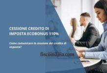 Cessione credito di imposta