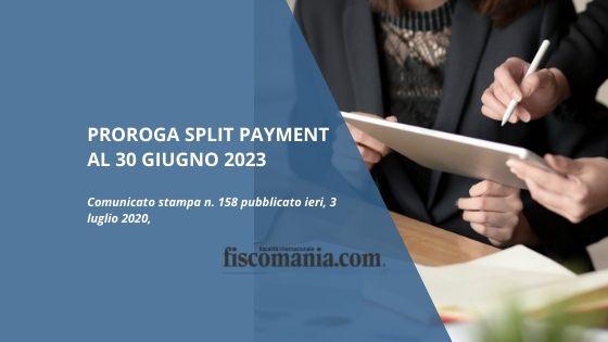 Proroga split payment