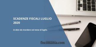 Scadenze fiscali luglio