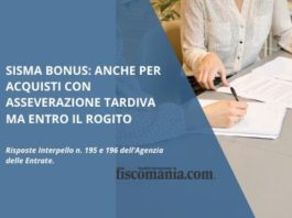 Sisma bonus