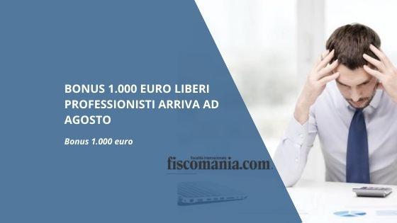 Bonus 1.000 euro liberi