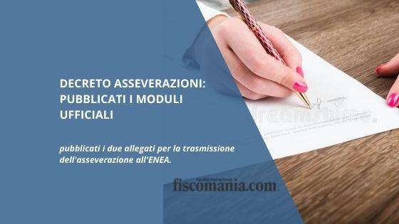 Decreto asseverazioni