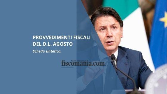 Provvedimenti fiscali del DL agosto