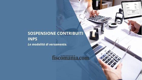 Sospensione contributi Inps