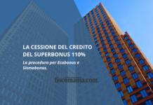 Cessione del Credito Ecobonus e Sismabonus